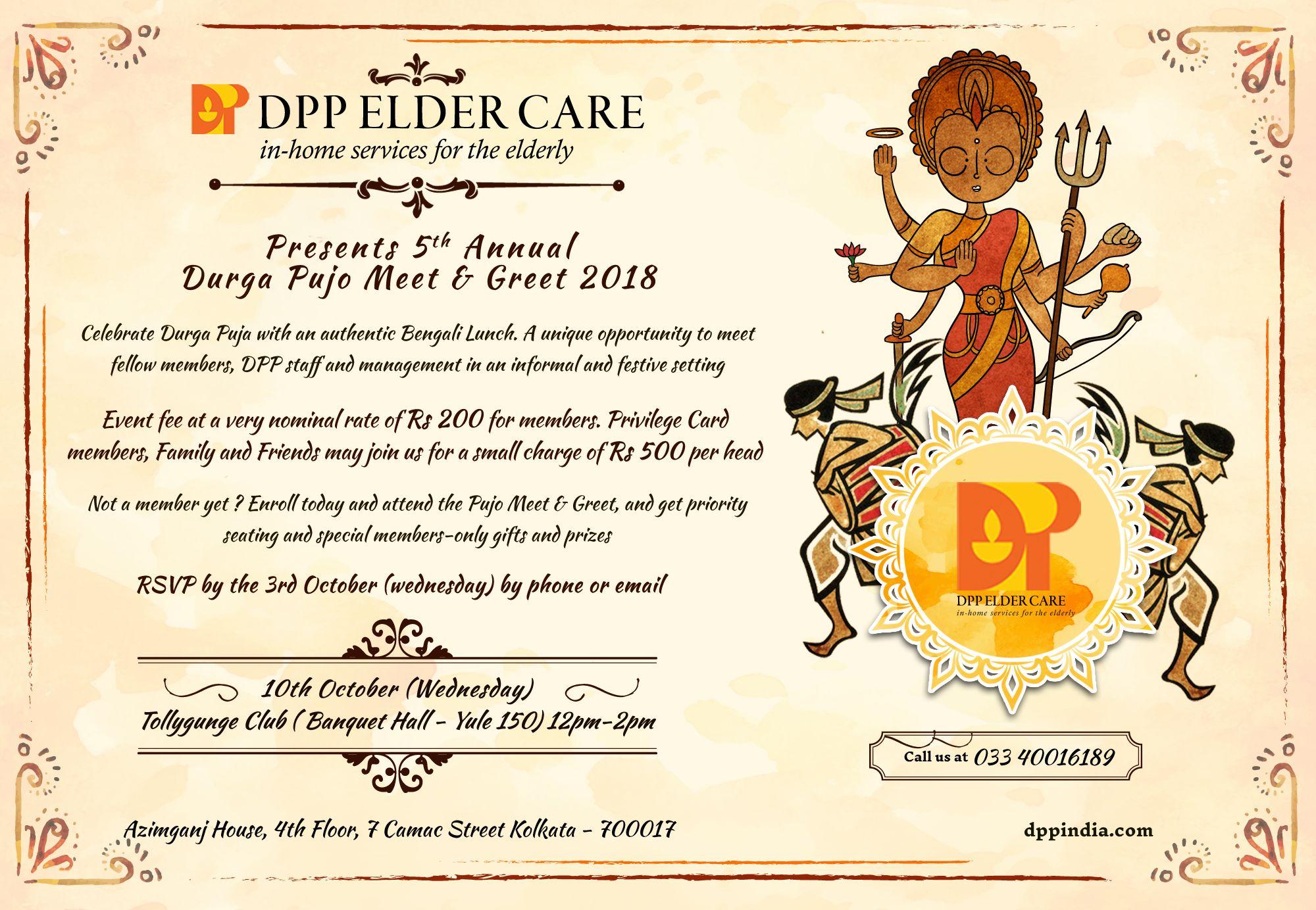 Durga Puja Meet And Greet 2018 Dpp Elder Care Dpp Elder Care